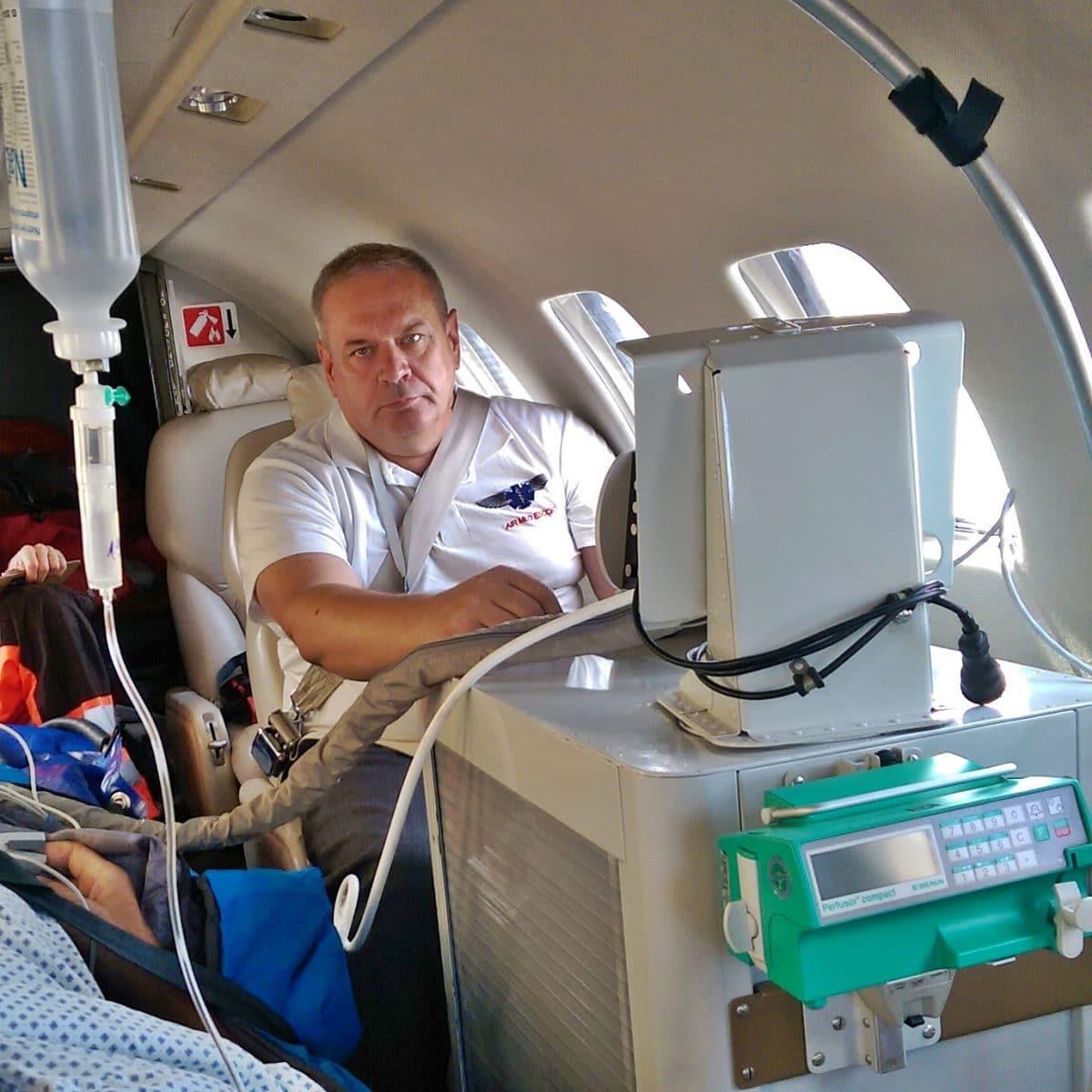 Samolot medyczny- latająca intensywna terapia